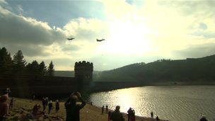 Lancasters over Derwent Dam