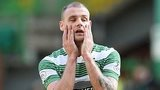 Dejection for Celtic's Anthony Stokes after a missed chance against Motherwell.