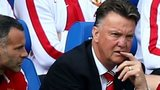 Manchester United manager Louis van Gaal and Ryan Giggs after their 5-3 defeat to Leicester