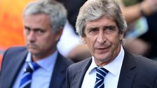 Manuel Pellegrini has beaten a Jose Mourinho-managed side just once in ten meetings