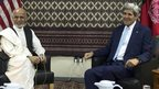 John Kerry with Ashraf Ghani in Kabul. 7 Aug 2014
