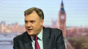 Labour shadow  chancellor Ed Balls