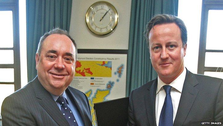 Alex Salmond (left) and David Cameron