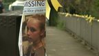 Close up of 'missing' poster for Alice Gross
