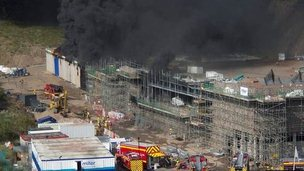 The police firearms training centre fire