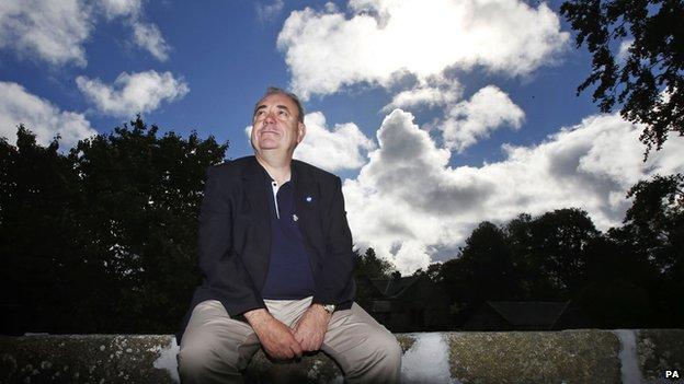 Outgoing First Minister Alex Salmond