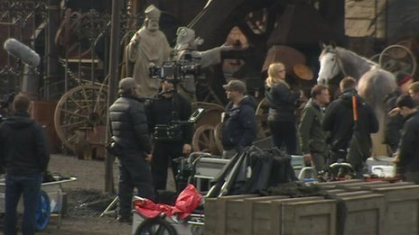 On the set of Peaky Blinders