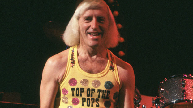 Jimmy Savile presenting Top of the Pops in the 1970s