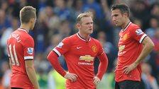 Adnan Januzaj, Wayne Rooney and Robin van Persie