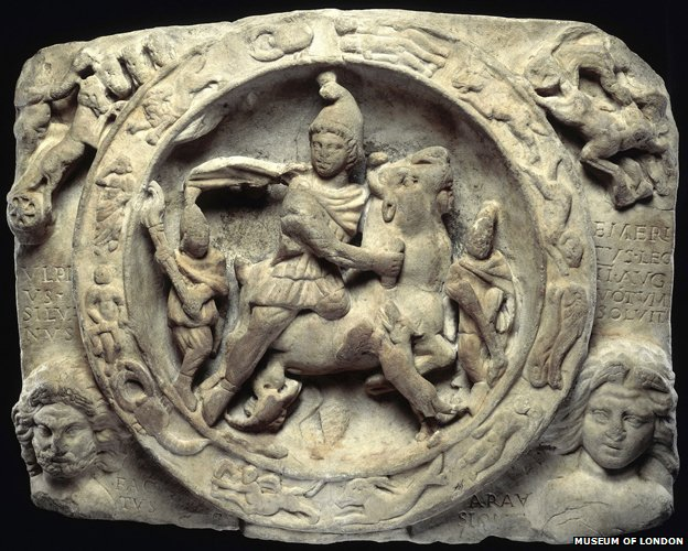 Relief sculpture of Mithras (c) Museum of London