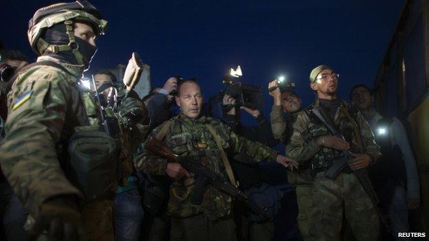 Prisoner exchange near Donetsk (19 Sept)
