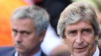 Chelsea's Jose Mourinho and Manchester City manager Manuel Pellegrini