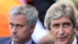 Chelsea's Jose Mourinho and Manchester City manager Manuel Pellegrini