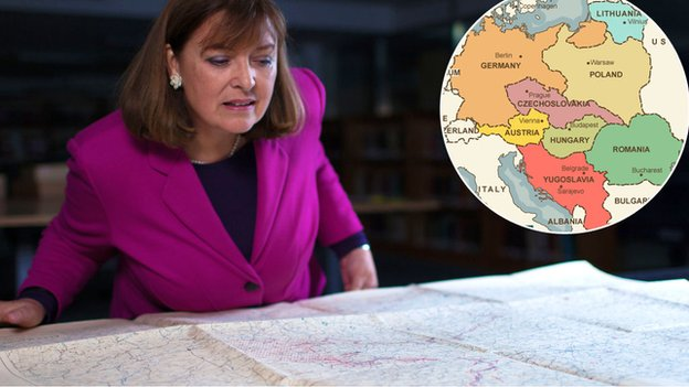 Bridget Kendall and maps of Europe