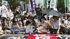 Students protest in Hong Kong