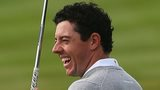 Rory McIlroy during practice ahead of the Ryder Cup on Monday