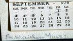 Calendar from 1916