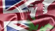 UK and Welsh flags