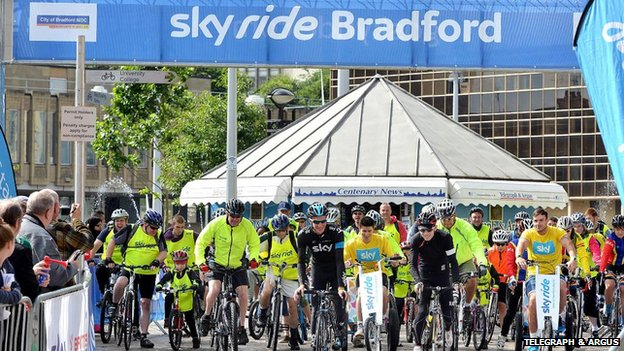 Cyclists in Bradford