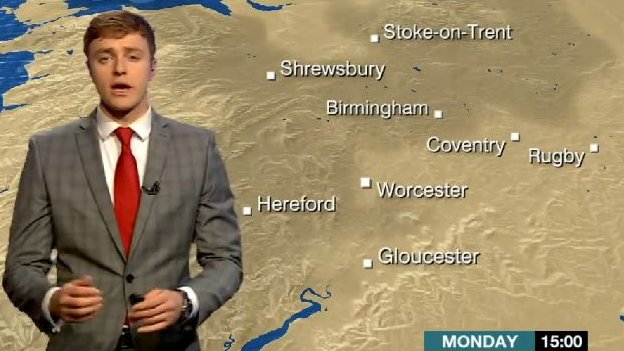 Charlie Slater reads the forecast