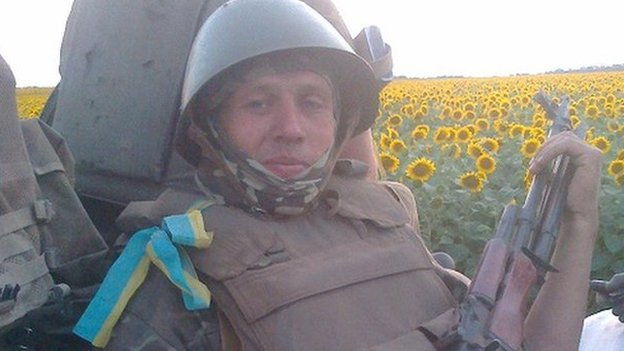 Serhiy Hordiychuk fighting in eastern Ukraine