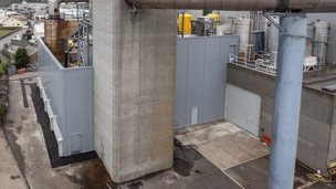 Guernsey Electricity acoustic barrier. Pic: Guernsey Electricity