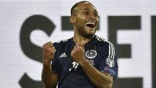 Ikechi Anya celebrates his goal against Germany
