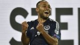 Ikechi Anya celebrates his goal against Germany