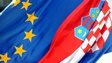 Flags of EU and Croatia