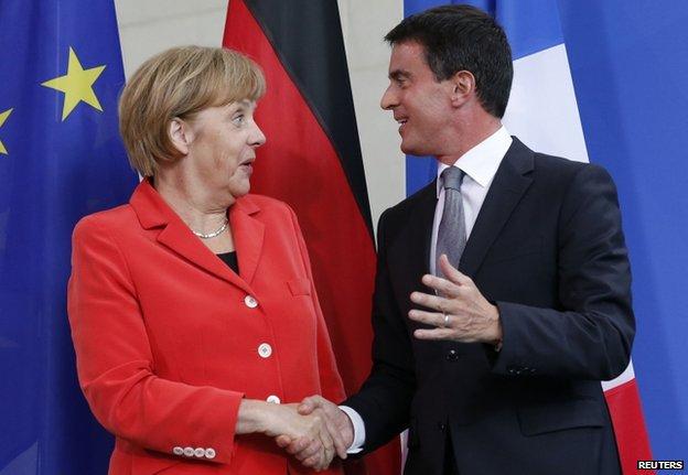 French PM spared Merkel's thunder