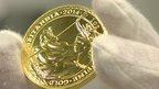 A gold Britannia coin