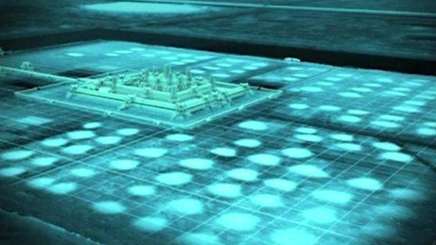Image of Ankor Wat using lidar