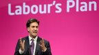 Ed Miliband at Labour conference in Manchester