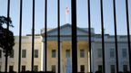 The White House seen through gates