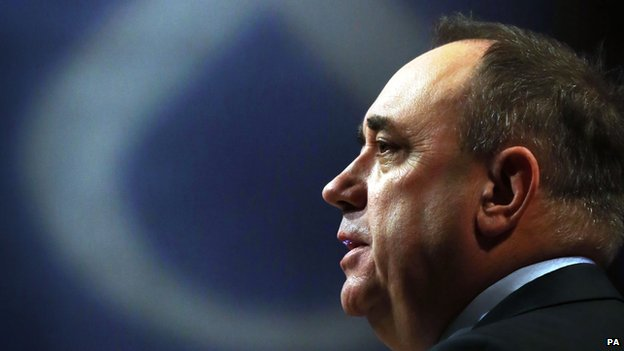 Outgoing first minister Alex Salmond