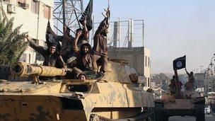 Islamic State fighters in Raqqa (30/06/14)