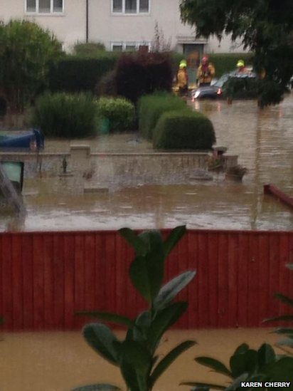 Burst water main in Normandy Crescent in Cowley