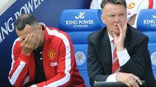 Man Utd manager Louis van Gaal and assistant Ryan Giggs