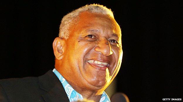 Fiji's prime minister, Frank Bainimarama