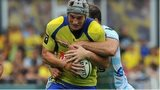 Jonathan Davies playing for Clermont Auvergne