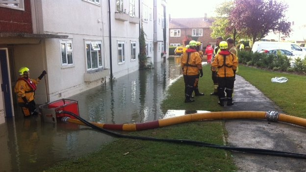 Emergency services at Normandy Crescent