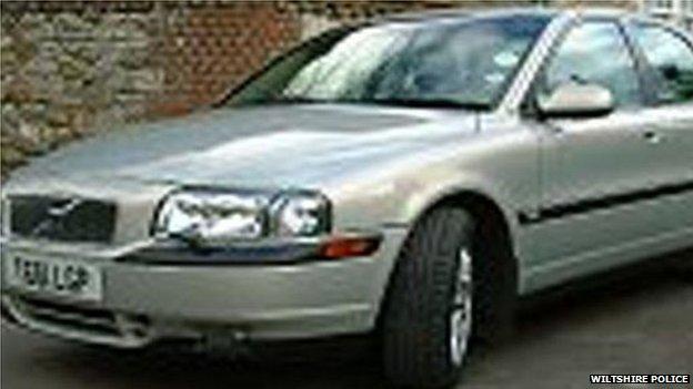 The silver Volvo