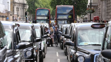 Black cab protest