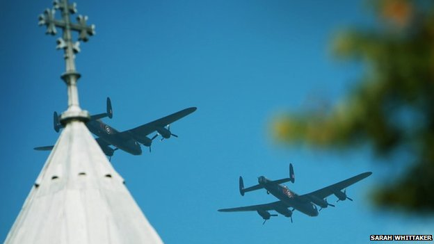 Lancasters over Lincoln Cathedral