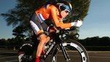 Ellen van Dijk in action for on her bike