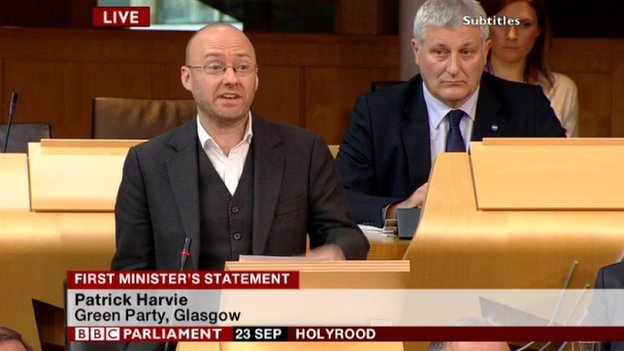 The co-convener of the Scottish Greens, Patrick Harvie
