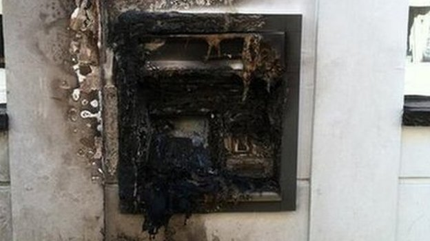 Banbury ATM fire