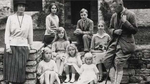The Mitford Family including Deborah bottom right