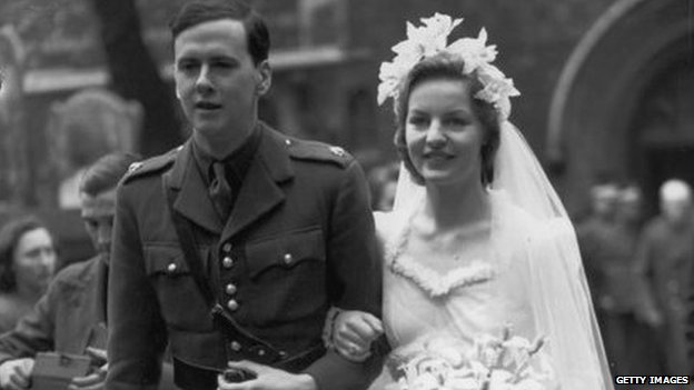 Wedding of the 10th Duke of Devonshire Andrew Cavendish and Deborah