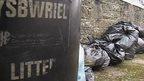 Rubbish bags in Carmarthenshire